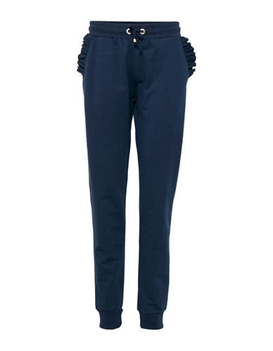 B. Young Terri Ruffle Sweatpants-BLUE-Medium