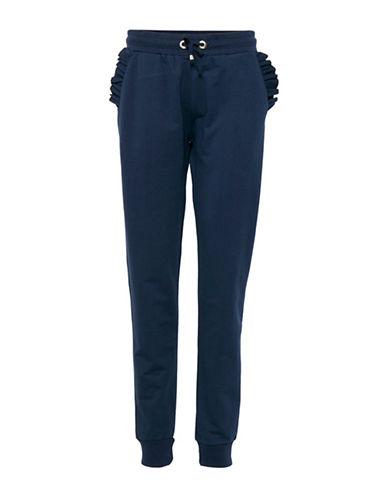 B. Young Terri Ruffle Sweatpants-BLUE-Small