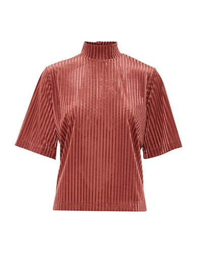 B. Young Urista Striped Turtleneck Top-BLUSH ROSE-Medium