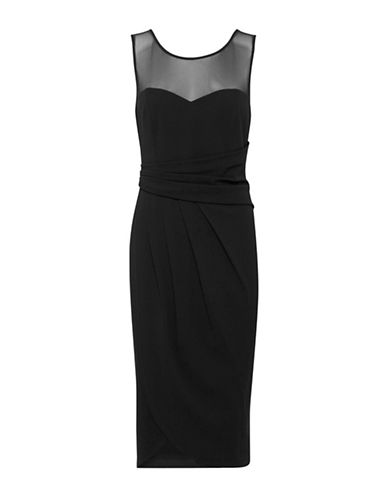 B. Young Partiene Pleated Sheath Dress-BLACK-44