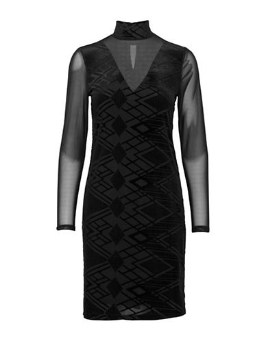B. Young Rypatya Geometric Sheath Dress-BLACK-Small
