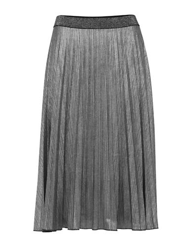 B. Young Sanette Pleated Skirt-SILVER-Medium