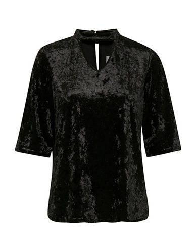 B. Young Ramyra Velour Top-BLACK-Small