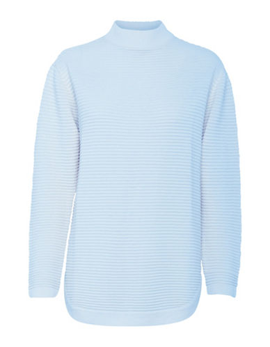 B. Young Makio Textured Turtleneck-SKY BLUE-X-Small