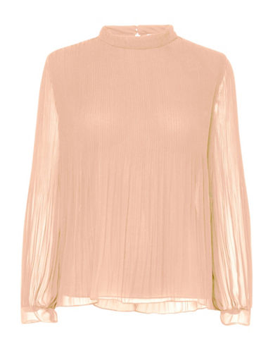 B. Young Fricollo Pleated Blouse-PINK-44