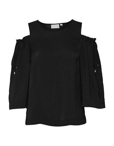 Inwear Domino Cold Shoulder Blouse-BLACK-40
