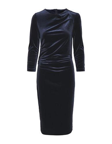 Inwear Nisas Velvet Knee-Length Dress-BLACK-Small