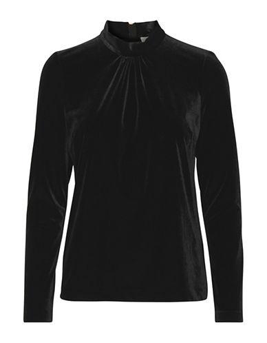 Inwear Kylie Velvet Top-BLACK-X-Small