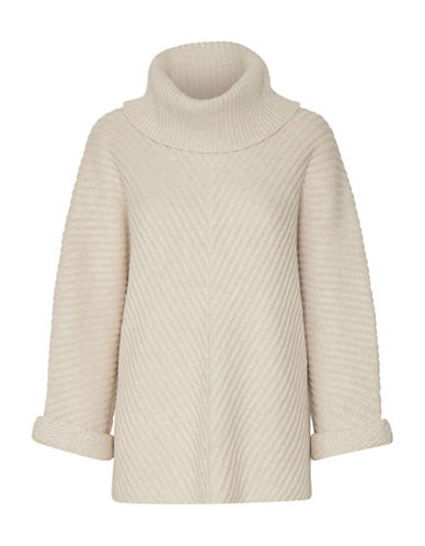 Part Two Jessamin Wool-Blend Ribbed Pullover-BEIGE-X-Large