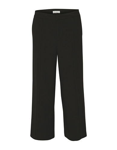 Part Two Jalila Pleated Culottes-BLACK-38