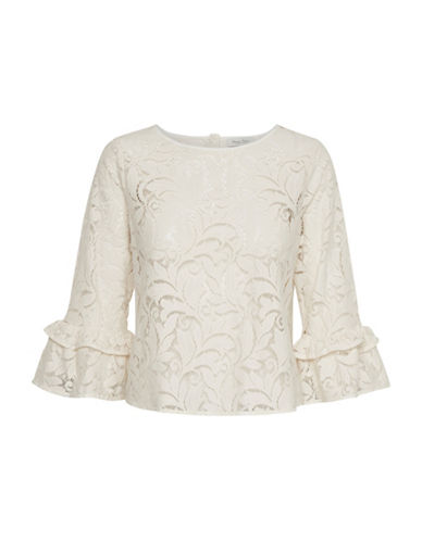 Part Two Lace Flare-Sleeve Blouse-NATURAL-36