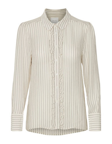 Part Two Jacy Striped Blouse-WHITE-34