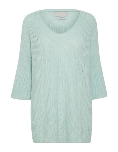 Inwear Long-Sleeve V-Neck Pullover-GREEN-X-Small