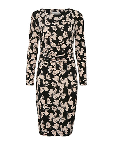 Inwear Floral Jersey Sheath Dress-BLACK-X-Large