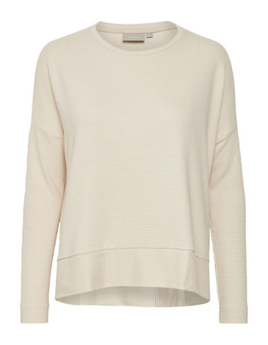 Inwear Long-Sleeve Ribbed Tee-BEIGE-Medium