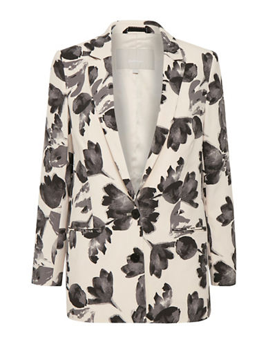 Inwear Floral Notch Blazer-WHITE-34