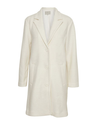 Inwear Notch Lapel Wool-Blend Coat-WHITE-42