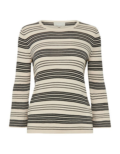 Inwear Striped Cashmere-Blend Pullover-BLACK-Large 89839462_BLACK_Large