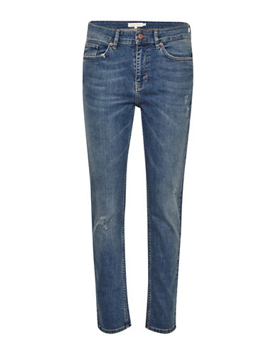 Part Two Indira Light Washed Boyfriend Jeans-BLUE-26