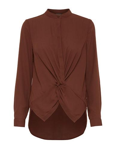 Ichi Crosso Knotted Shirt-RUST-Medium