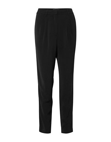 Ichi Blanca Pleated Dress Pants-BLACK-40