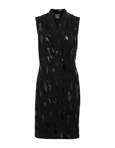 Ichi Brynn Cheetah Sheath Dress-BLACK-38