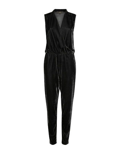 Ichi Cati Velour Jumpsuit-BLACK-Small