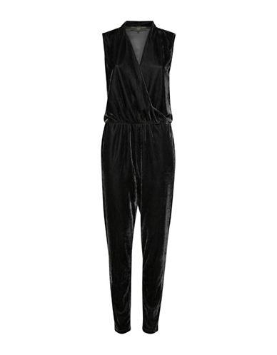 Ichi Cati Velour Jumpsuit-BLACK-Medium