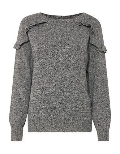 B. Young Ruffle Jumper-GREY-Large