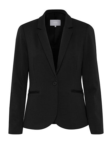 B. Young One-Button Blazer-BLACK-40