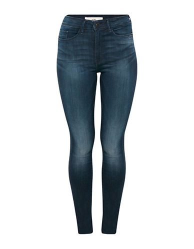 Ichi Erin High-Waist Jeans-DARK BLUE-32