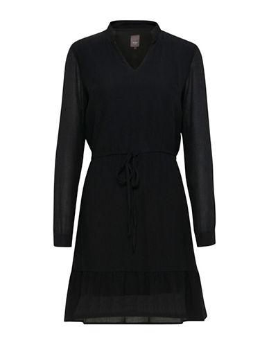 Ichi Betty Long-Sleeve Dress-BLACK-38