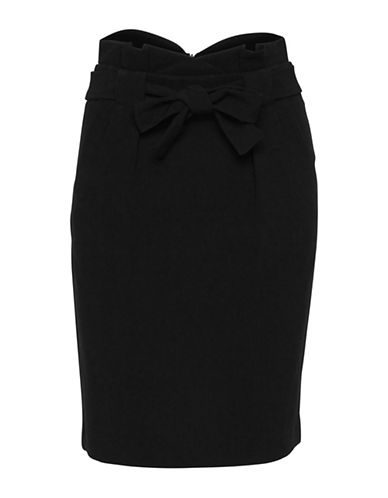 Ichi Fabiu Pencil Skirt-BLACK-40