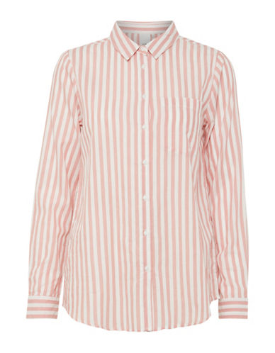 Ichi Asilo Cotton Button-Down Shirt-PINK-36