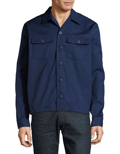 Wood Wood Franco Utility Shirt Jacket-BLUE-Large