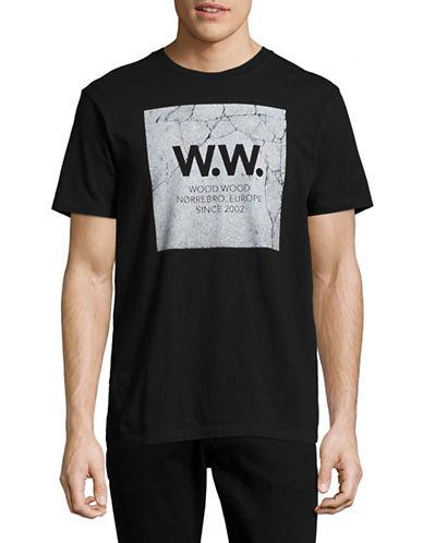 Wood Wood Concrete Logo T-Shirt-BLACK-Medium 88971756_BLACK_Medium