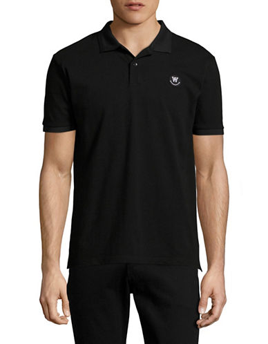 Wood Wood Brain Solid Polo-BLACK-Small