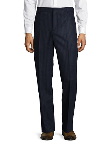 Wood Wood Pinstripe Pants-NAVY-Medium