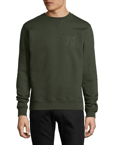 Wood Wood Classic Sweatshirt-GREEN-Medium