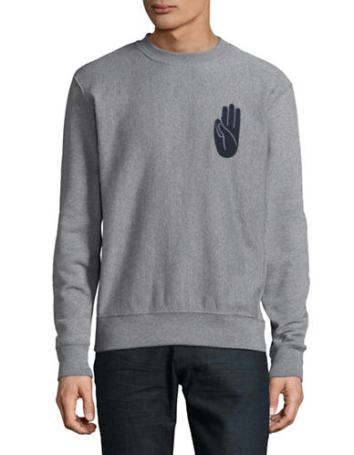 Wood Wood Peace Sweatshirt-NAVY-Large