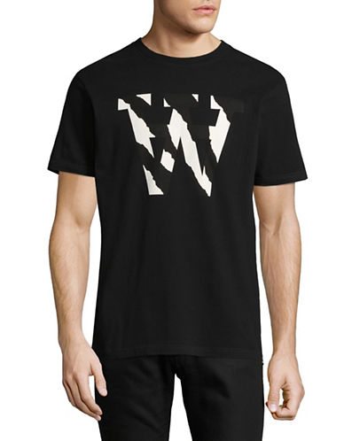 Wood Wood Graphic Print T-Shirt-BLACK-Large