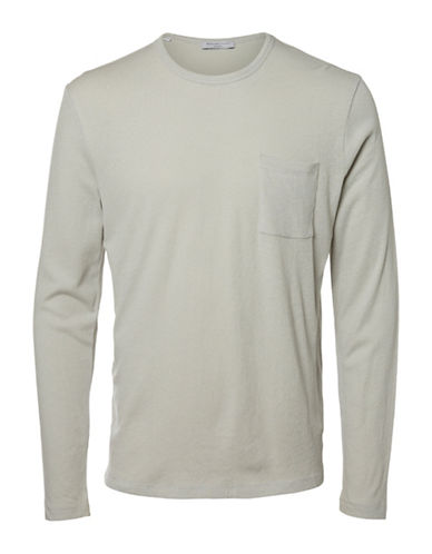 Selected Homme SHDBROOK Long-Sleeve T-Shirt-GREY-Small 89168107_GREY_Small