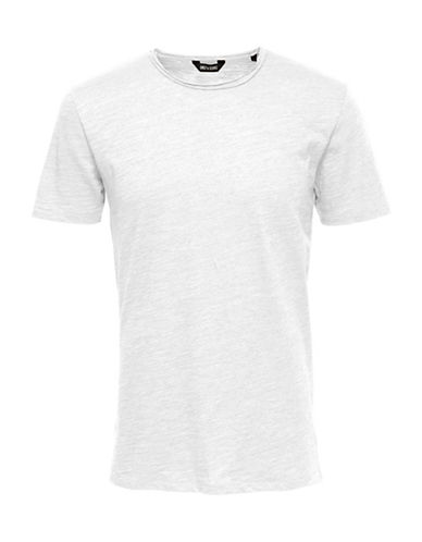 Only And Sons Short Sleeve Tee-WHITE-Large