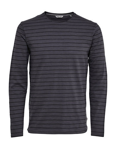 Only And Sons Striped Fitted T-Shirt-GREY-Medium 89001850_GREY_Medium