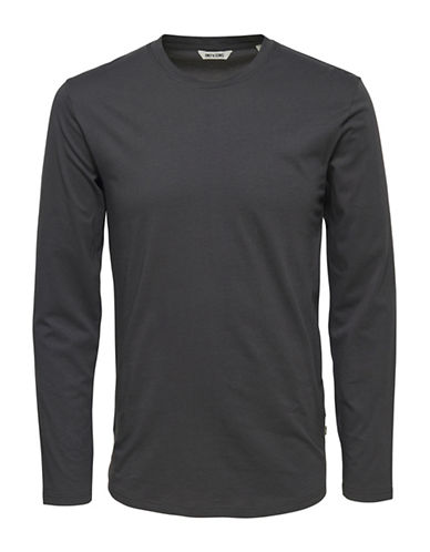 Only And Sons onsPETAR Long Sleeve T-Shirt-GREY-Small 88896232_GREY_Small