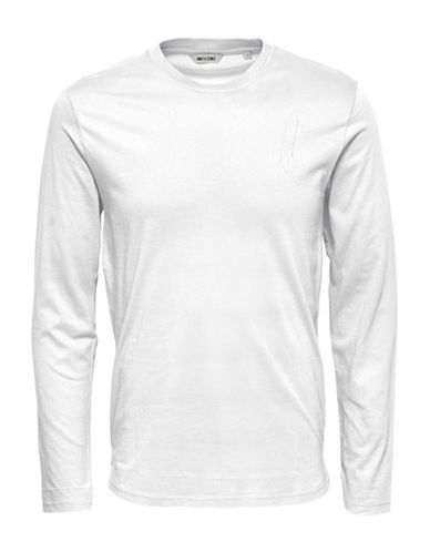 Only And Sons onsPETAR Long Sleeve T-Shirt-WHITE-Small 88896241_WHITE_Small