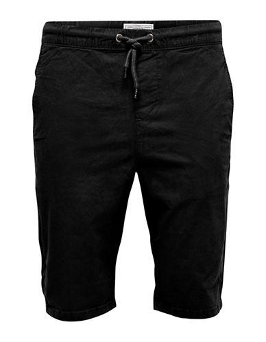 Only And Sons Henry Solid Shorts-BLACK-XX-Large 89092131_BLACK_XX-Large
