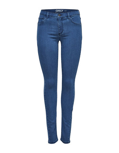 Only onlRAIN Regular Skinny Jeans-BLUE-Small