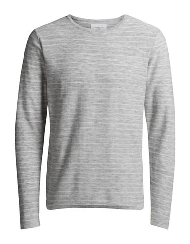 Jack & Jones Jcolope Knit Striped Tee-GREY-XX-Large