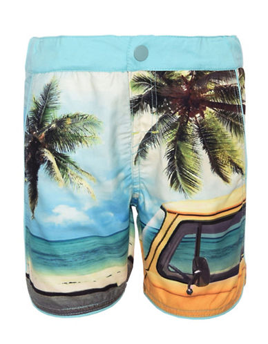 Name It Printed Swim Shorts with Brief-BLUE-9